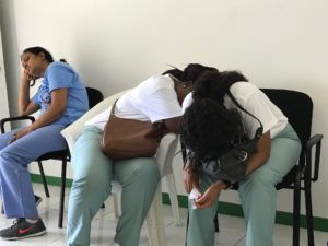 Exhausted Nurses and Physicians
